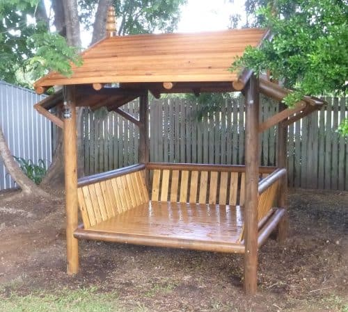 Grand Gazebos and Cubbies - Dimbulah - 3m Daybed with 3 backrests - coated