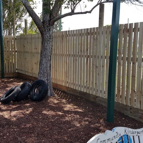 Grand Gazebos and Cubbies - New Fence Installed at childcare centre 2