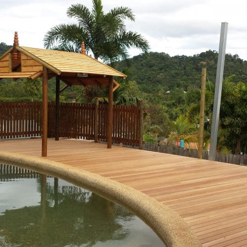 Grand Gazebos and Cubbies - 3.5m Pavilion - Natural Finish with Custom Deck