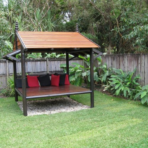 Grand Gazebos and Cubbies - Daybed House - 3m, 1 backrest and darker painted finishGrand Gazebos and Cubbies - Daybed House - 3m, 1 backrest and darker painted finish