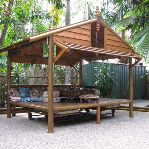 Grand Gazebos and Cubbies - Daybed House - 4m x 3m with 1 backrest