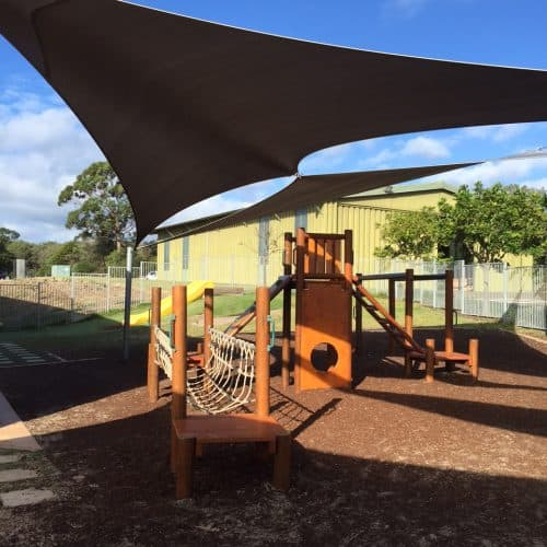 Grand Gazebos and Cubbies - Custom playground to suit childcare centre