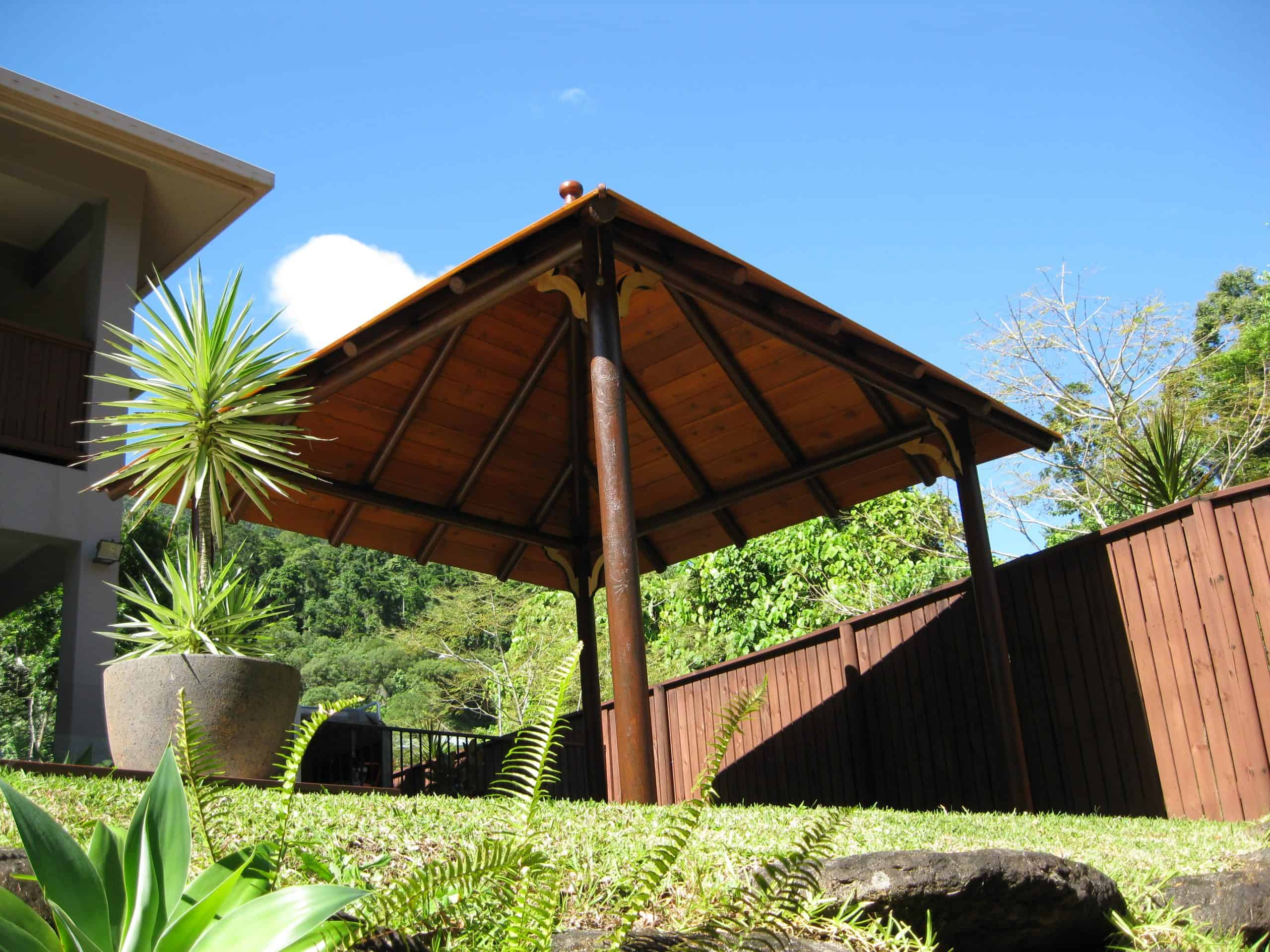 Grand Gazebos and Cubbies - 3.8m Hipped Pavilion on grass